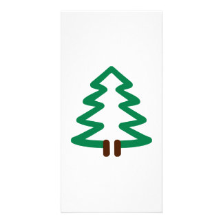 Fir tree customized photo card