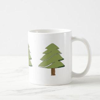 fir tree in snow Mug