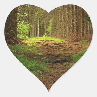 Fir Tree Path Heart Sticker