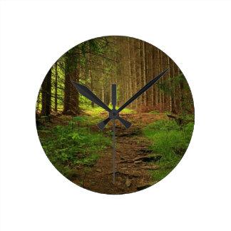 Fir Tree Path Round Clock