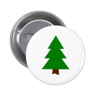 Fir tree pinback button