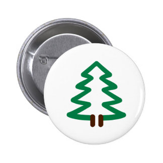 Fir tree pinback buttons