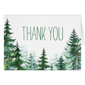 Fir Tree Thank You Cards