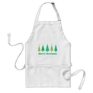 Fir Trees Christmas Apron