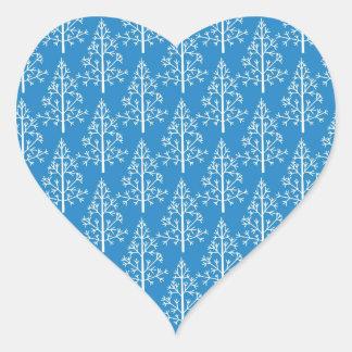 Fir trees heart sticker