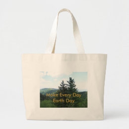 Fir Trees Large Tote Bag