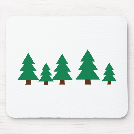 Fir trees mouse pad