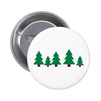 Fir trees pinback buttons