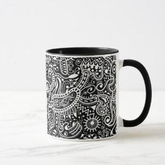 """Fira"" Mug, White on Black Mug"