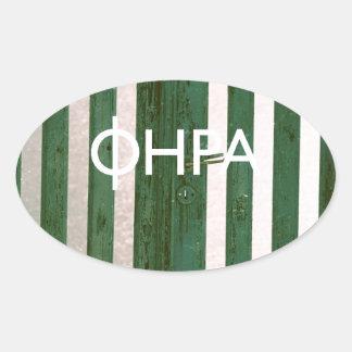 Fira - Santorini Oval Sticker