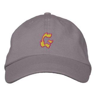 Fire #1 Letter G Embroidered Baseball Hat