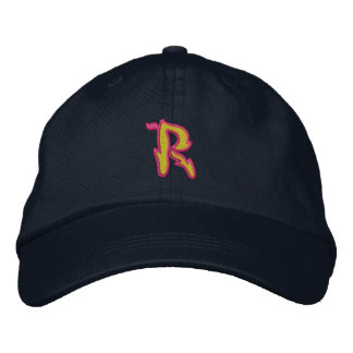 Fire #1 Letter R Embroidered Baseball Cap