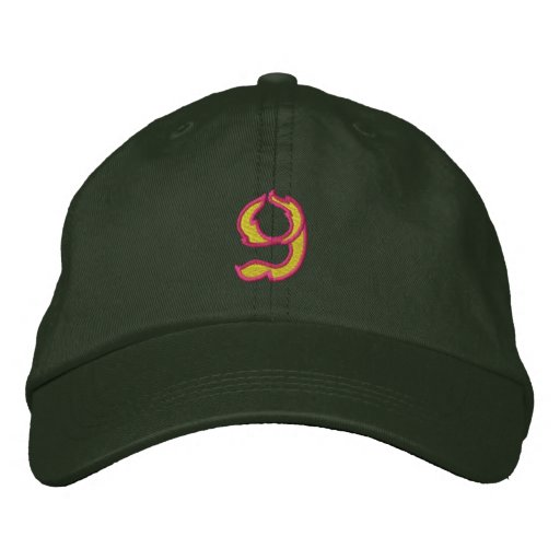 Fire #1 Number 9 Embroidered Baseball Hat