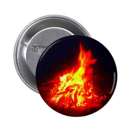 Fire 2 Inch Round Button