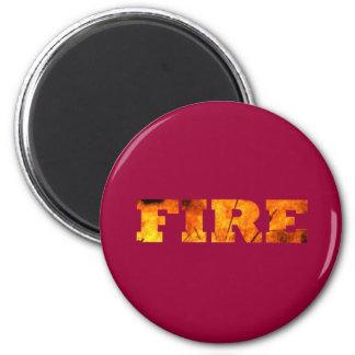 Fire 2 Inch Round Magnet
