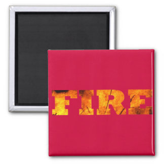 Fire 2 Inch Square Magnet
