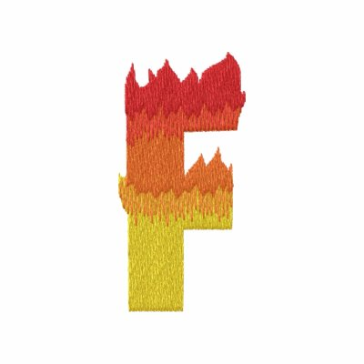 Fire #2 Letter F Embroidered Hoody
