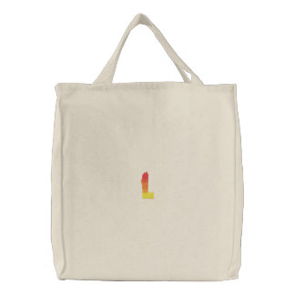 Fire #2 Letter L Embroidered Tote Bag