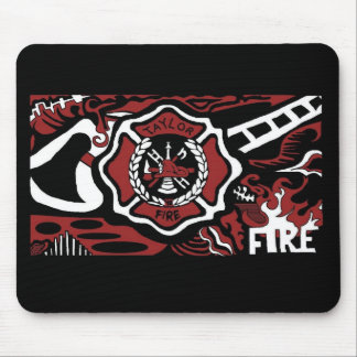 fire 3, fire 3, fire 3 mouse pad