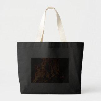 fire-432478 fire wood forest nature orange black b tote bag