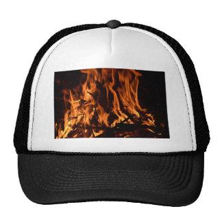 fire-432478 fire wood forest nature orange black b trucker hat