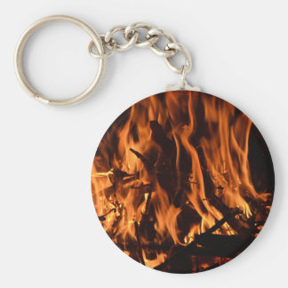 fire-432478 fire wood forest nature orange black b basic round button keychain
