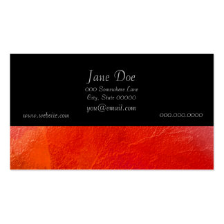 Fire - Abstract Art in Orange, Yellow, Red Business Card Template