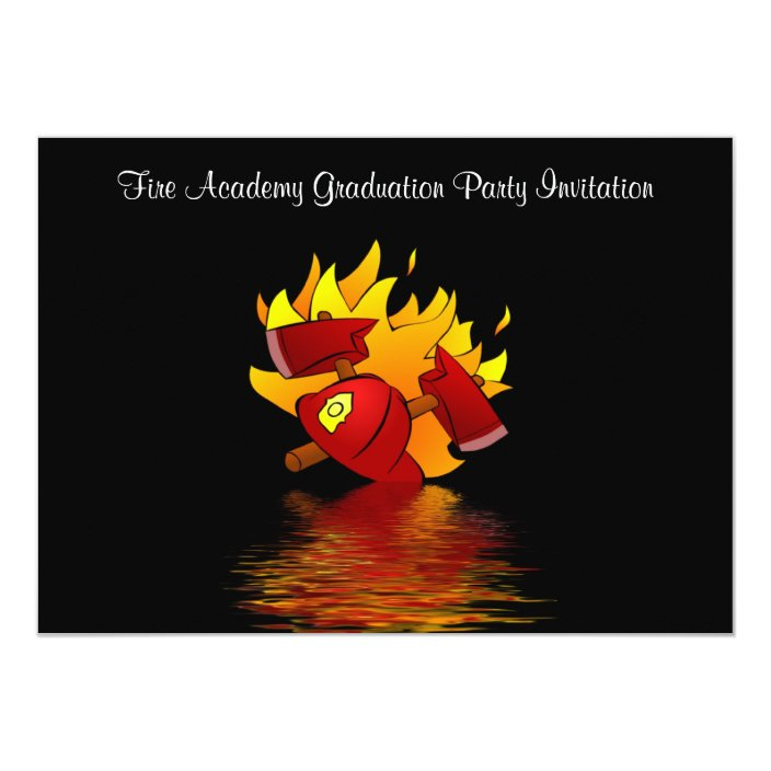 Graduation Party Invitation Fireman