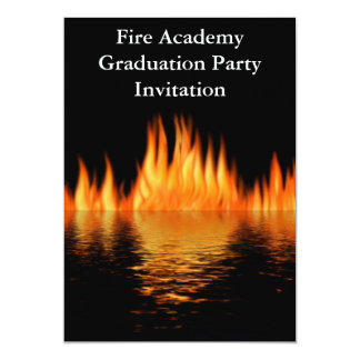 Fire Academy Graduation Party Invitation Fireman