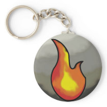 Fire Affinity Single Sidded Keychain