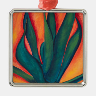 Fire Agave Metal Ornament
