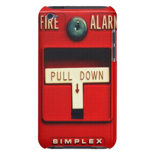 Fire alarm barely there iPod case