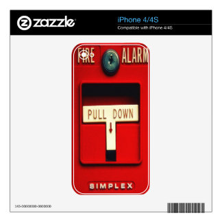 Fire alarm iPhone 4S decals