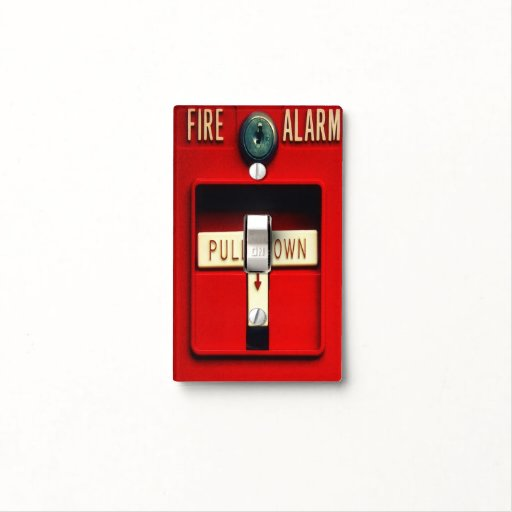 Fire alarm switch plate cover