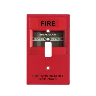 Fire Alarm Light Switch Plate