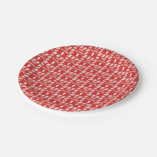 Fire alarm pattern party paper plate