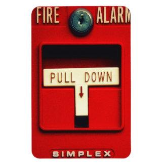 Fire alarm rectangular photo magnet