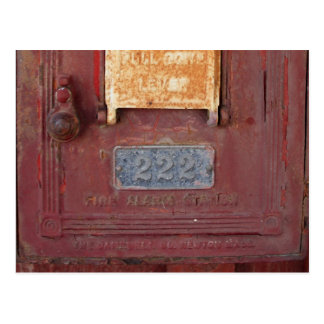 Fire Alarm Station Postcard