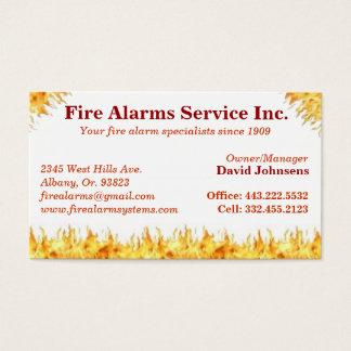 Fire alarm system repair extinguisher card