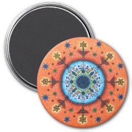 Fire Altar Mandala Magnet