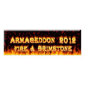 Fire and brimstone fire and red marble. business cards