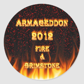 Fire and brimstone fire and red marble. stickers