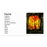Fire and Burnt Trees Spray Paint Painting Double-Sided Standard Business Cards (Pack Of 100)