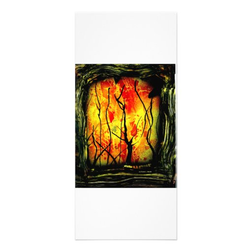 fire and burnt trees spray paint painting rack card zazzle. Black Bedroom Furniture Sets. Home Design Ideas