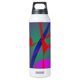 Fire and Calmness Abstract Expression 16 Oz Insulated SIGG Thermos Water Bottle