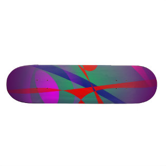 Fire and Calmness Abstract Expression Skate Deck