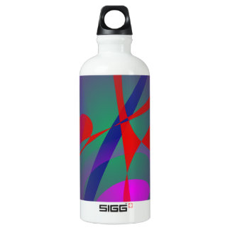 Fire and Calmness Abstract Expression Water Bottle