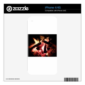 Fire and Embers Skins For The iPhone 4