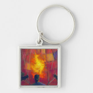 Fire and Fame Term Keychain
