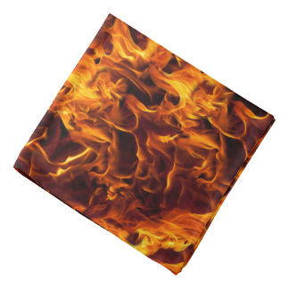Fire and Flame Pattern Bandana